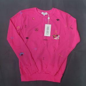 sweatshirt kenzo pink